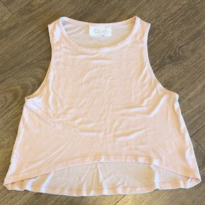 Cale cropped tank, size small